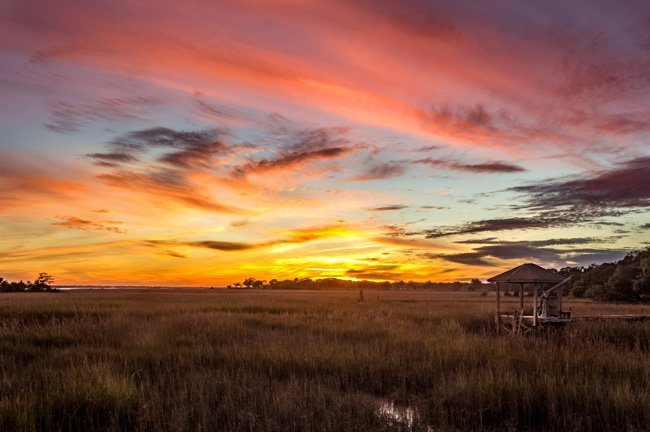 Shem Creek Park Sunset