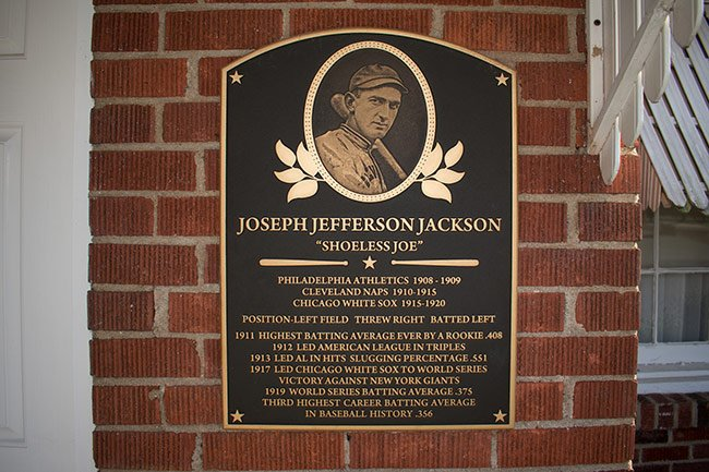 Shoeless Joe Jackson Sign