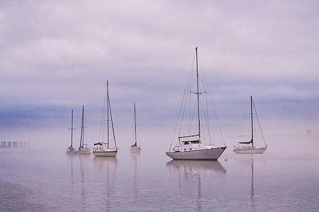 Boats on Winyah Bay