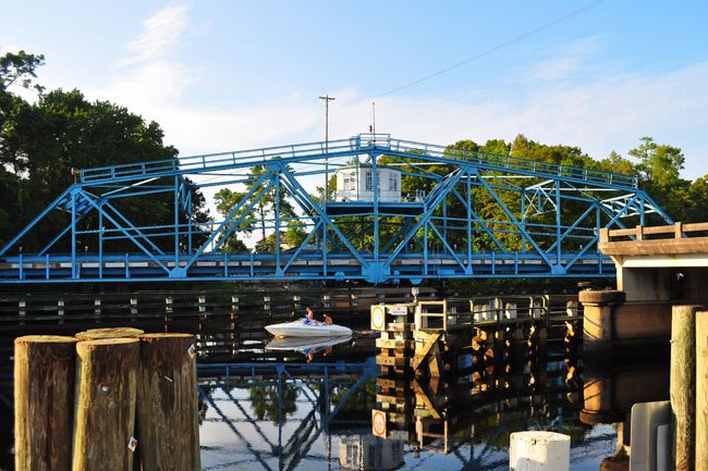 Socastee Bridge Open for Boat