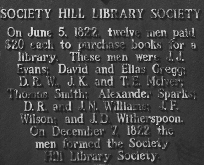Society Hill Library Marker