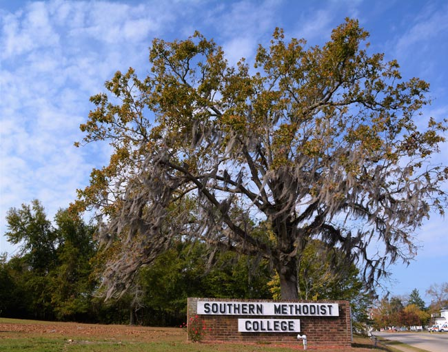 Southern Methodist College Sign