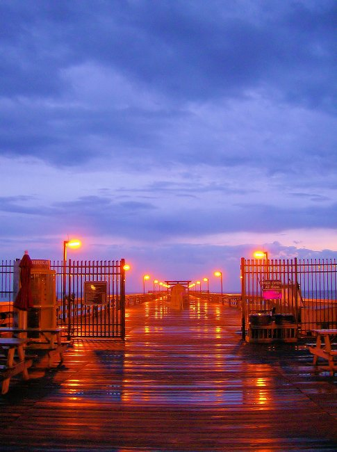 Springmaid Pier in Myrtle Beach After a Rain