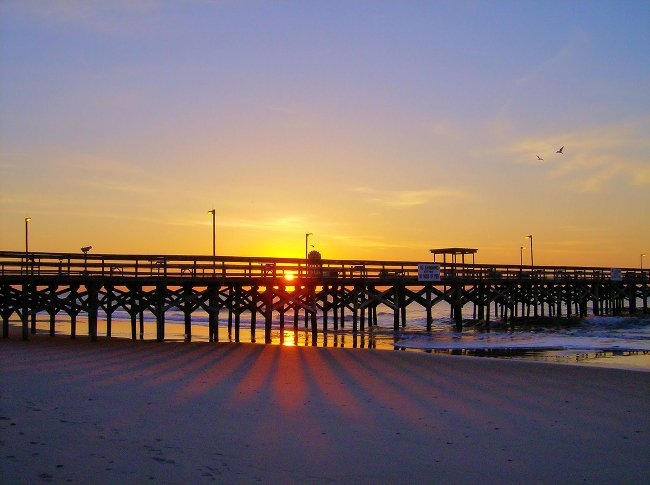 Easter Morning Sunrise at Springmaid Pier in Myrtle Beach