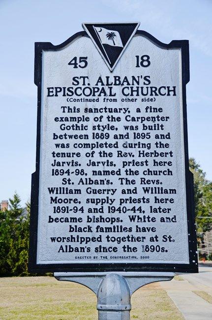St. Alban's Marker Back