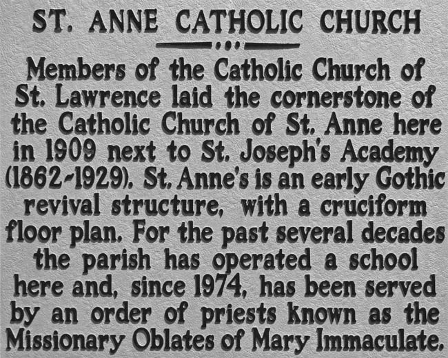St. Anne Catholic Marker