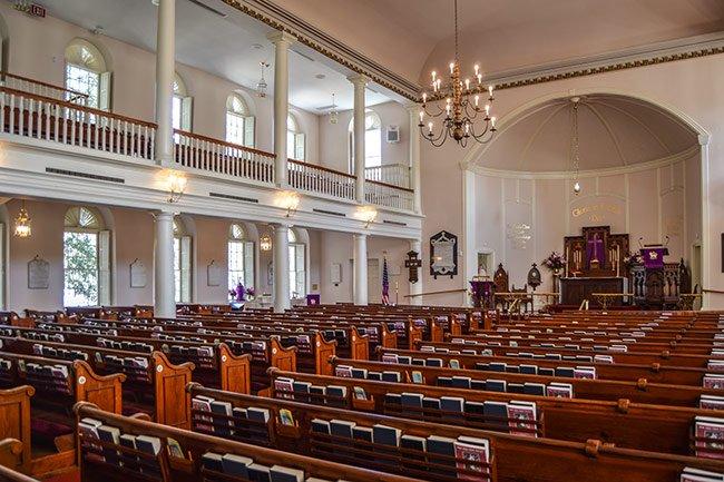 St. Helena's Church, Beaufort, Interior