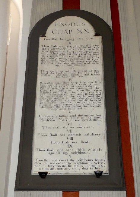 St. James Ten Commandments