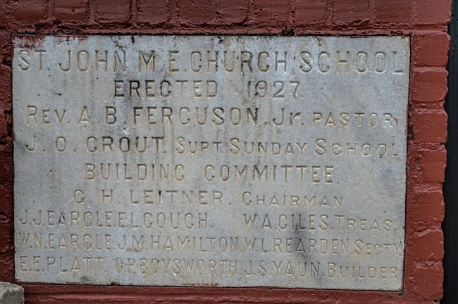 St. John Methodist School Sign