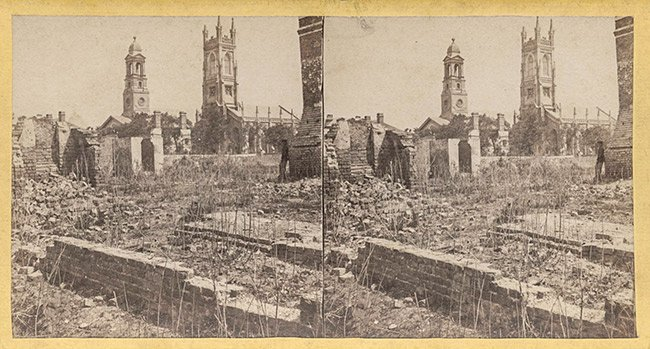 St. Johns Lutheran During the Civil War, Stereograph View
