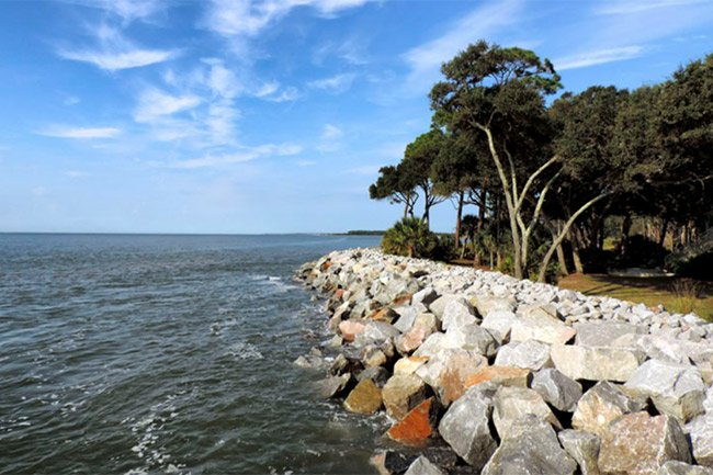 St. Phillip's Island Retaining Wall