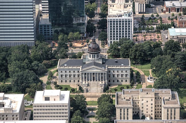 Statehouse Aerial Back