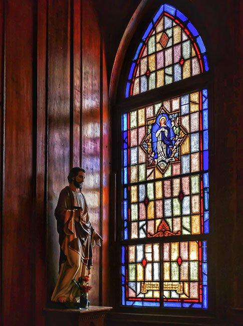 Stella Maris Stained Glass Window
