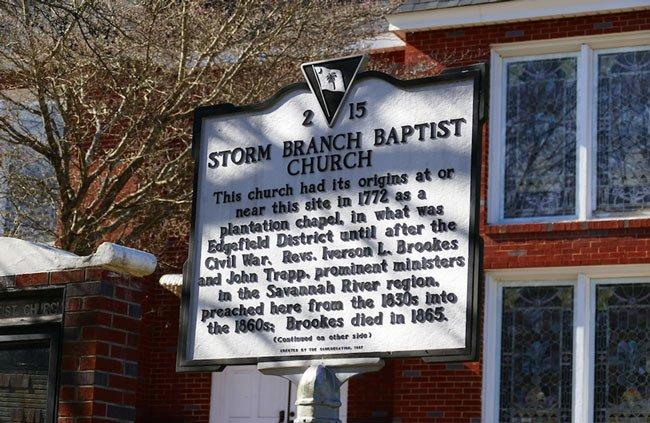 Storm Branch Baptist Marker