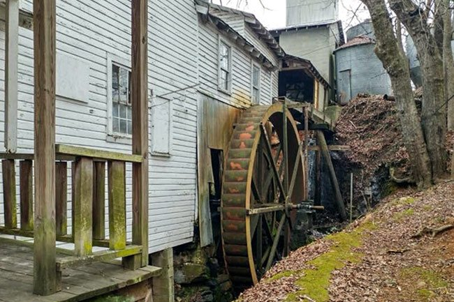 Subers Corn and Flour Mill Wheel