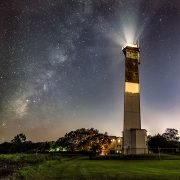 Sullivan's Island Lighthouse at Night