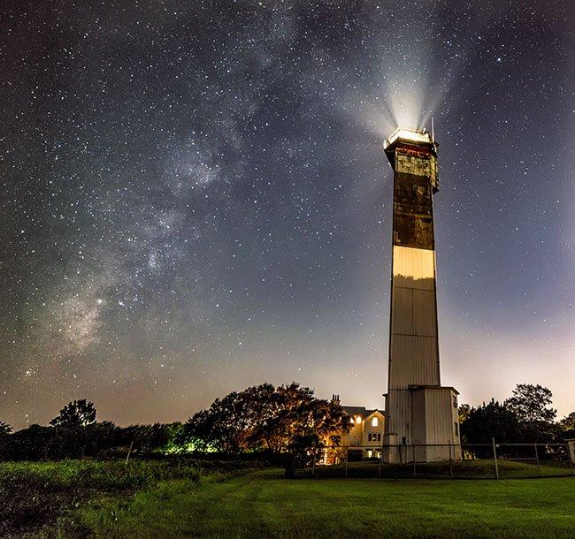 Sullivan's Island Lighthouse at Night