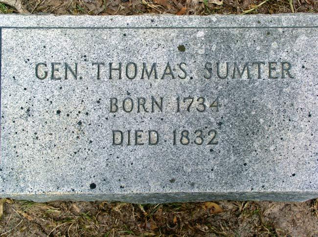 Thomas Sumter Grave Marker