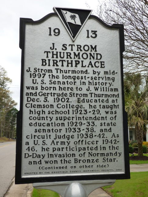 Thurmond Birthplace Marker Front