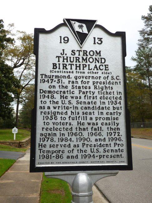 thurmond-birthplace-marker