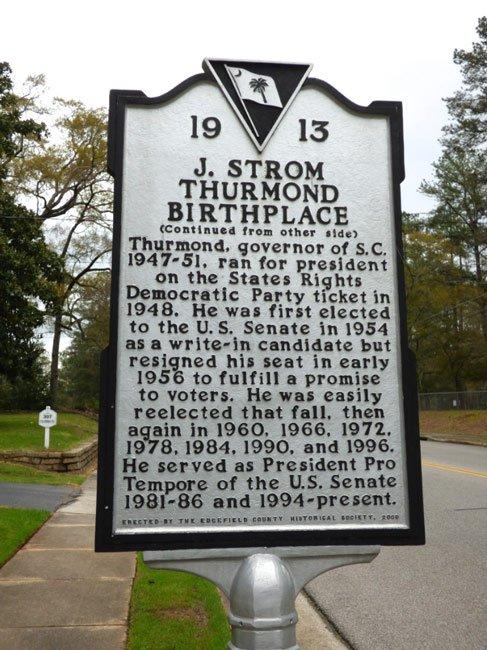 thurmond-birthplace-marker