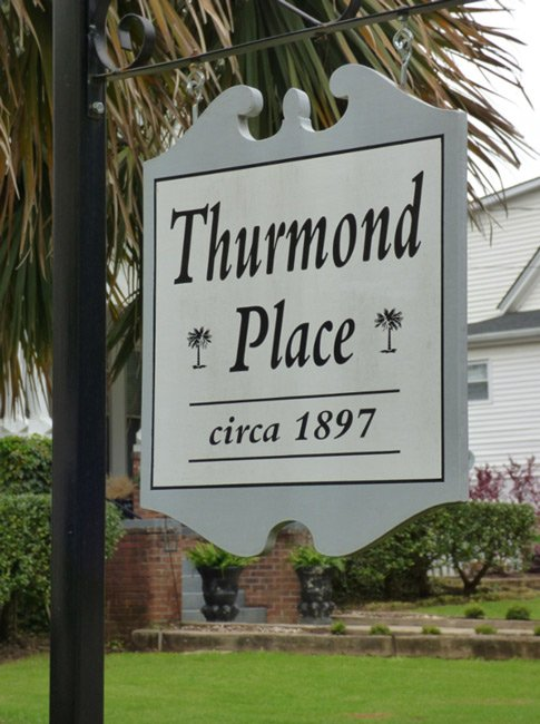 Thurmond House Sign