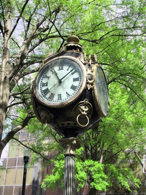 Town Clock Columbia Main Street