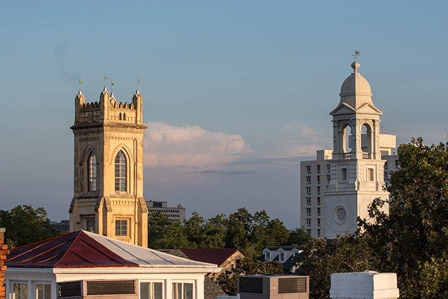 Unitarian Church and St. John's Lutheran Church Steeples