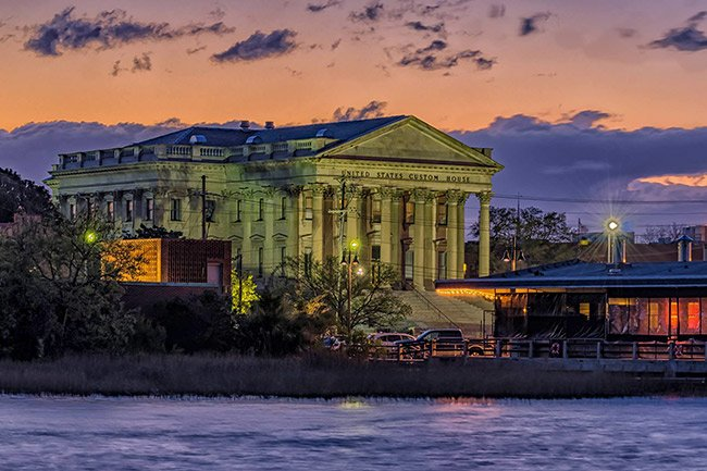 United States Custom House seen from the Charleston Harbor