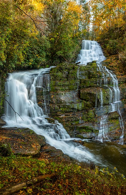 Upper Laurel Fork Falls, Lake Jocassee