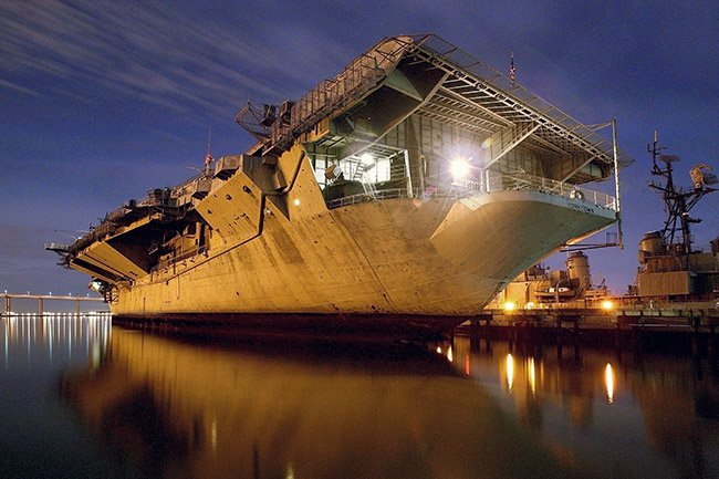 USS Yorktown at Night, Mt. Pleasant, SC