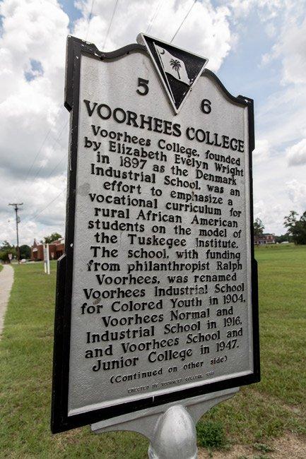 Voorhees College Marker