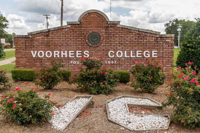 Voorhees College Sign