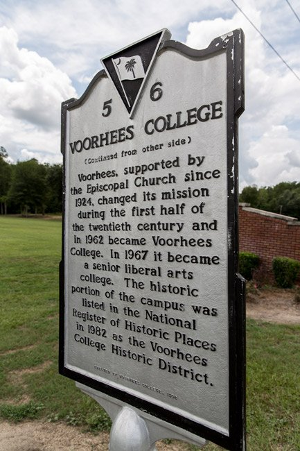 Voorhees College Marker Back