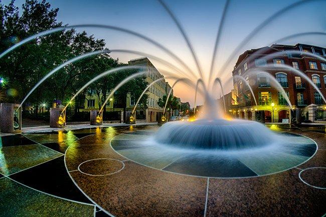 Waterfront Splash Fountain