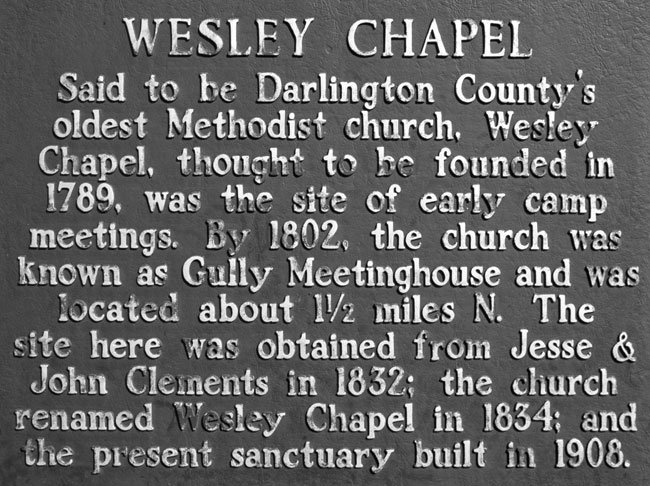 Wesley Chapel Marker