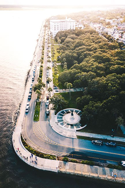 White Point Garden Aerial