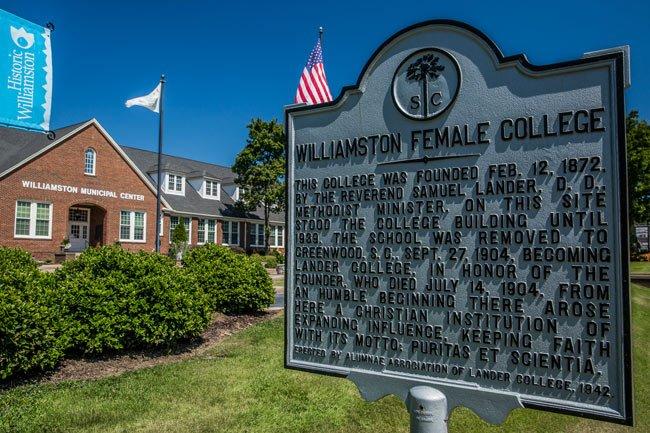 Williamston Female College Marker