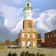Winnsboro Town Clock Painting