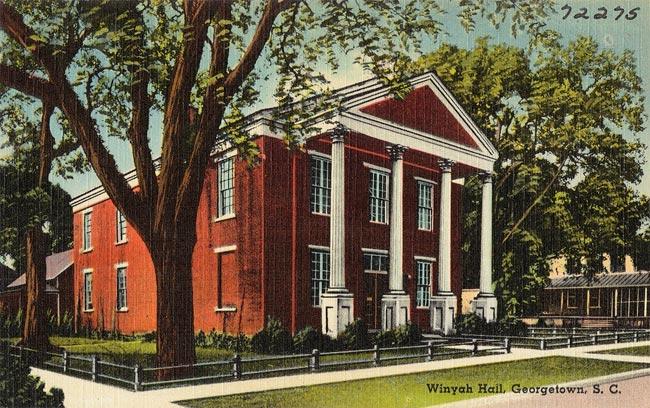 Winyah Society Hall Postcard