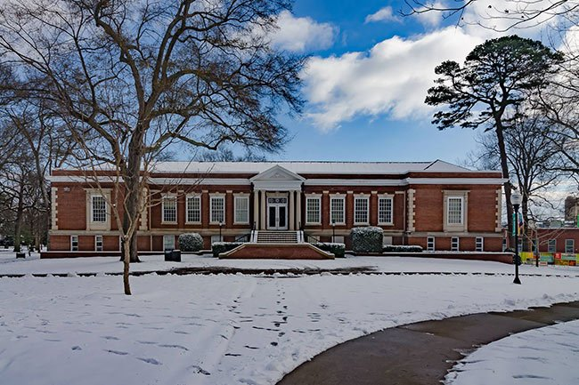 Wofford College in the Snow