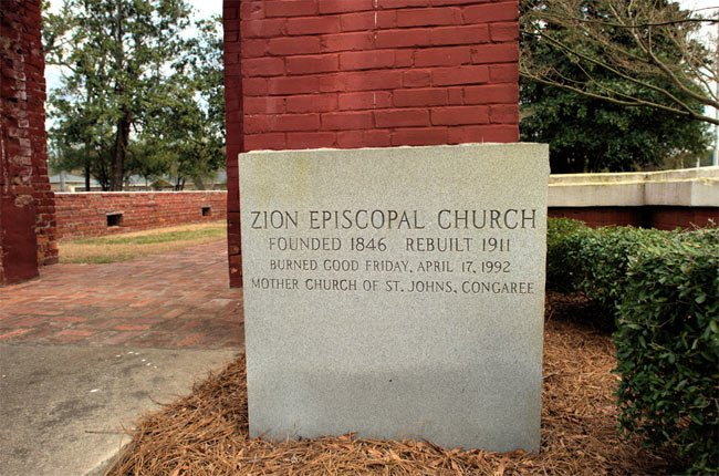 Zion Episcopal Church Marker